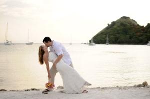 wedding-dip beach